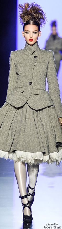 Jean Paul Gaultier Couture Fall 2011***jacket too long...realign & make a peplum a la JPG!! s-c