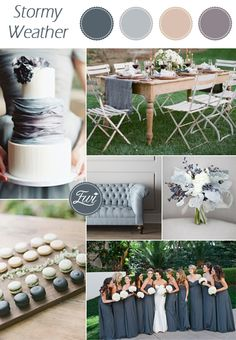 pantone stormy weather dusty grey and blue neutral wedding color ideas for fall 2015
