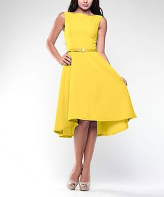 Sophisticated and feminine, this figure-flattering dress will take you effortlessly from desk to dinner in chic style.Size note: This item runs in European sizing. Please refer to the size chart. Ordering a size up is also recommended.40.2'' long from high point of shoulder to hem35% cotton / 35% viscose / 30% polyesterMachine washImportedShipping note: This item is shipping internationally. Allow extra time for its journey to you.