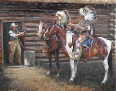The Uninvited Guests - by John Fawcett Native American Girls, Native American Pictures, Native American Artwork, Native American Wisdom, American Indian Art, Early American, American Pride, Native Indian, Native Art