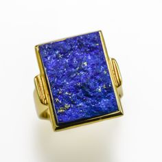 This striking Lapis Lazuli ring has been handcrafted in our Claremont workshop in yellow gold. It has been set with one spectacular Lapis Lazuli. Contact us if you have any queries on this stunning Lapis Lazuli ring. Stone Earrings, Stone Bracelet, Stone Necklace, Stone Jewelry, Coloured Stone Rings, Lapis Lazuli, Druzy Ring, Handcrafted Jewelry, Workshop