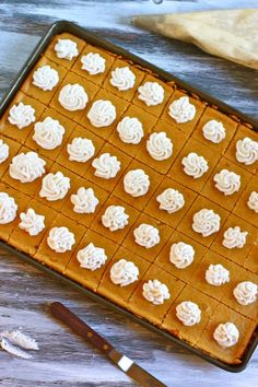 Pumpkin Cheesecake Bites - Using a standard 10-1/2 x 15-1/2 x 1  jelly roll size pan; this recipe makes approximately 35 cheesecake bites.