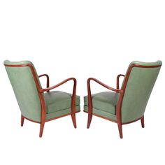 Pair of Cabinetmaker Armchairs Attributed to Carl Malmsten image 3