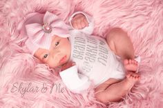 f604e468b9 BABY GIRL coming home outfit baby girl newborn girl by SkylarnMe