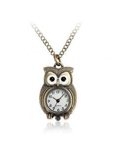 Owl Bronze Pocket Watch