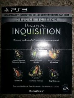 "Dragon Age Inquisition - ""Deluxe Edition Digital Upgrade"" - DLC (Sony Playstation, PS3, PSN)"