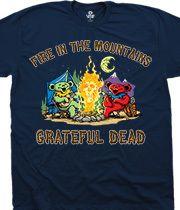 63ef70313 Fire In The Mountain Navy T-Shirt. Tie Dye ...