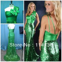Wholesale Prom Dresses - Buy Twinkle Free Shipping One Shoulder Mermaid Brush Sequined Beading Open Back Mud Green Prom Dresses Sexy_Online Sale, $100.0 | DHgate