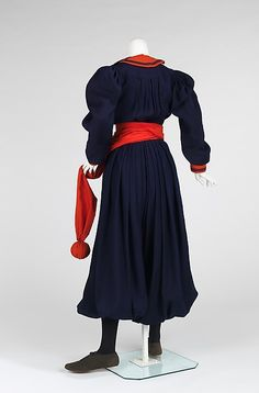 1893-1898 Gym Suit, wool, cotton, leather, American.
