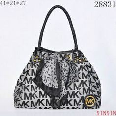 Michael Kors Scarf Jacquard Large Grey Shoulder Bags on sale. Save Big,Buy  Now! 6d55fe490a831
