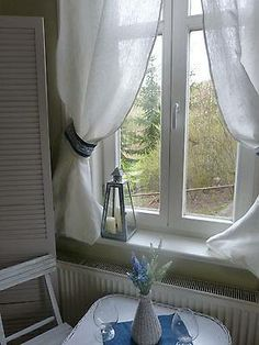 Natural linen curtains with lace and jeans  http://www.ebay.co.uk/itm/251520025587?ssPageName=STRK%3AMESELX%3AIT&_trksid=p3984.m1555.l2649