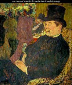 Portrait of Monsieur Delaporte at the Jardin de Paris 1893 - Henri De…