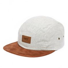 7d4b43fed4422 OBEY Harbor 5 Panel casquette natural white - heather black