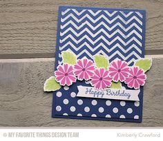 Modern Blooms, Polka Dot Background, Blueprints 16 Die-namics, Modern Blooms Die-namics, Small Chevron Stripes Stencil - Kimberly Crawford  #mftstamps
