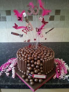 Jennys 30th Birthday Cake We made this fun and fanciful cake for