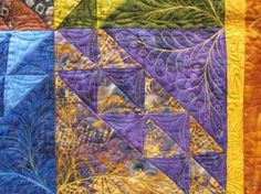 Batik quilting: Why Mother Superior uses the Topstitch Needle.