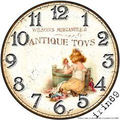 6 (700x698, 380Kb) Diy Clock, Clock Decor, Clock Face Printable, Postcard Paper, Handmade Clocks, Face Images, Coaster Design, Wood Clocks, Decoupage Paper