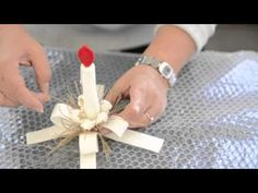 One minute felt - tutorial by DHG. How to make a candle in termoformable felt for your Christmas tree!  dhgshop.it