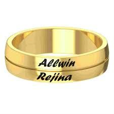 engraved lekani rings name wedding custom detail product with factory names buy price