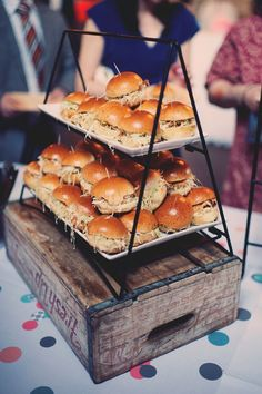 Wedding Philippines - 21 Gourmet Burger Bar Buffet Ideas For Your Wedding Catering Display, Catering Food, Wedding Catering, Catering Ideas, Rustic Food Display, Catering Recipes, Catering Buffet, Catering Events, Party Catering