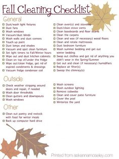 new fall cleaning checklist, cleaning tips, home maintenance repairs