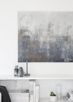 Painting by Nina Holst, living room, marble