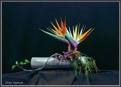 Ikebana by Clayton Segawa Ikebana Flower Arrangement, Ikebana Arrangements, Beautiful Flower Arrangements, Floral Arrangements, Beautiful Flowers, Bd Design, Floral Design, Ikebana Sogetsu, Paradise Flowers
