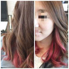 유미 고객님 핫핑크 ~~^^ #Hairbychristine #haircolor #balayage #ombre #etudelounge #koreatown #losangeles