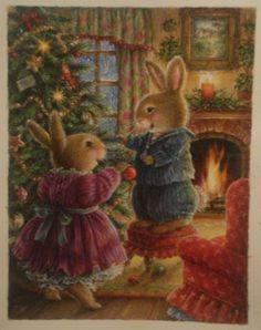 Forest Creature Christmas... Bunny's Christmas tree