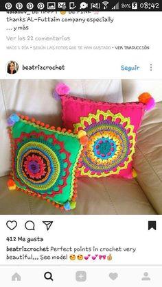 Captivating Crochet a Bodycon Dress Top Ideas. Dazzling Crochet a Bodycon Dress Top Ideas. Crochet Doily Rug, Crochet Cushion Cover, Crochet Cushions, Crochet Pillow, Freeform Crochet, Crochet Home, Love Crochet, Diy Crochet, Crochet Crafts