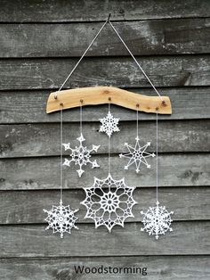 56 New Ideas crochet christmas gifts snowflake ornaments Crochet Christmas Decorations, Crochet Christmas Gifts, Snowflake Decorations, Snowflake Ornaments, Handmade Decorations, Christmas Crafts, Christmas Ornaments, Crochet Decoration, Crochet Gifts