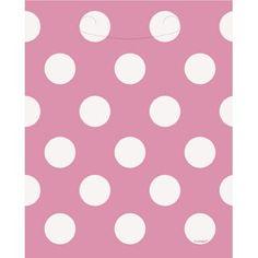 Pink Polka Dot Loot Bags Polka Dot Party Supplies $2.25