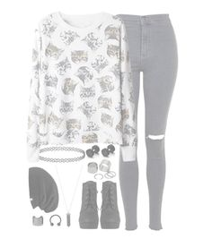 """""""//Infinity//"""" by alex-bows ❤ liked on Polyvore featuring Topshop, Pieces, Karen Kane and Luv Aj"""