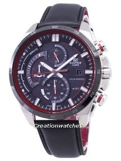 Case/Bezel Material, Stainless Steel, Leather Strap, Solar Movement, Mineral Crystal, Black Dial, Analog Display, Solar Powered. Seiko 5 Sports Automatic, Seiko Automatic, Seiko 5 Military, Casio Edifice, Watch Model, Black Crystals, Chronograph, Mineral, Watches For Men