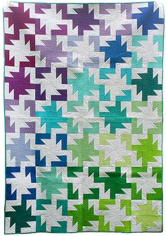 Sparkler PDF Pattern from Freshly Pieced Quilt Patterns. Easy to piece block is tessellating pattern. Crib size and lap size pattern. Jellyroll Quilts, Scrappy Quilts, Baby Quilts, Kid Quilts, Strip Quilts, Quilt Blocks, Puzzle Quilt, Quilting Projects, Quilting Designs