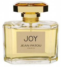 JOY- Jean Patou.  Created in 1930 and once billed as the most expensive perfume in the world but now no longer (after a buy-out by Procter & Gamble/relocation of manufacture yadda yadda yadda).  Top notes peach and leafy green then a heart of rose, jasmine, ylang ylang and tuberose and a base of sandalwood, musk and civet.  Luxuriantly lush, gentle and beautiful.  #perfume #beauty