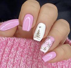 Christmas Gel Nails, Christmas Nail Art, Holiday Nails, Diy Christmas, Christmas Nail Designs, Nail Designs For Winter, Christmas Toes, Christmas Makeup, Christmas Outfits