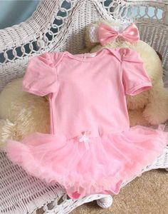 016e4c22d86 Light Pink Tutu Romper Baby Girl Cute Gift Present Baby Showerborn Princess