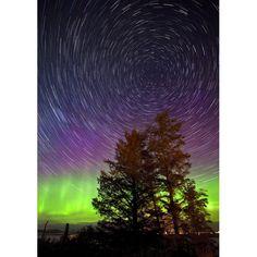 Aurora star trails!