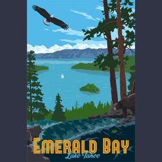 Emerald Bay, Lake Tahoe Limited Edition Giclee Print