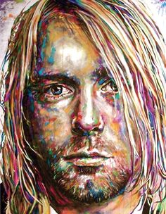 Cole Kluesner - Acrylic painting of Kurt Cobain