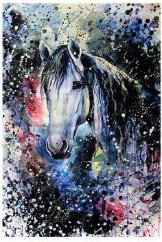 Equestrian illustration by Elena Shved