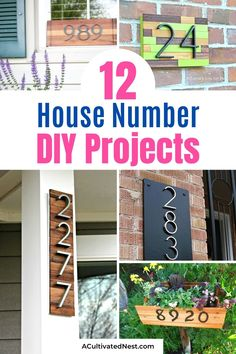 12 DIY House Number Projects- These DIY house number projects are great spring and summer projects to add curb appeal! And they're so easy to make, too! | outdoor décor DIYs, #DIY #houseNumbers #diyProjects #outdoorDIYs #ACultivatedNest House Number Plaque, House Numbers, Craft Projects For Kids, Diy Projects, Jones Design Company, Fish House, Diy Home Repair, Cute House, Do It Yourself Projects