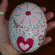 Painted stones, painted rocks, rock art, Meditation rock, Inspiration stone, valentine's day, valentine's decor, engagement gift,