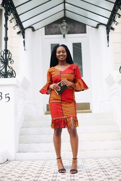 Bell sleeve Fringe Dress: Jennifer Amani