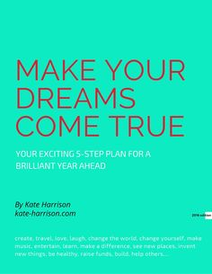 Free e-book available now to download from www.kate-harrison.com/news/dreams2016