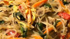 Korean Sweet Potato Noodles (Japchae) Recipe | Allrecipes Asian Recipes, New Recipes, Ethnic Recipes, Korean Sweet Potato Noodles, Cellophane Noodles, Marinated Beef, Fried Vegetables, Tea Cakes