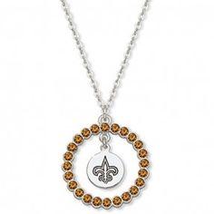 Saints Spirit Crystal Logo Wreath Necklace #Saints #NOLA #Jewelry