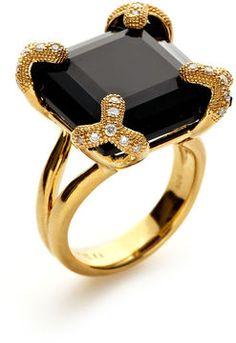 Soiree Onyx & Diamond Ring