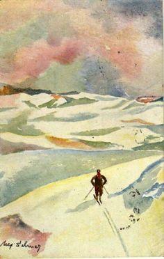 Julekort Ulf Selmer Utg Mittet stemplet 1933